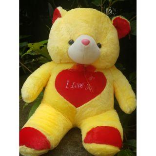 [Mã TOYFSS4 giảm 15k] Gấu bông tim i love you loại đẹp cao 70cm