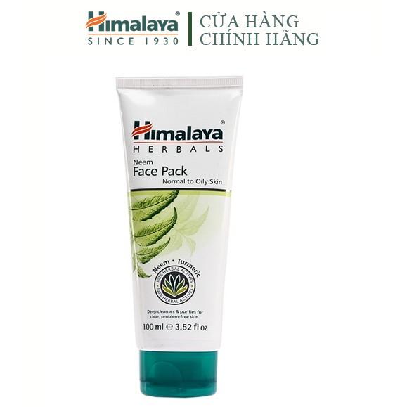 [HB Gift] Mặt nạ đất sét giảm mụn mờ thâm chiết xuất lá neem Himalaya Neem Face Pack 100ml