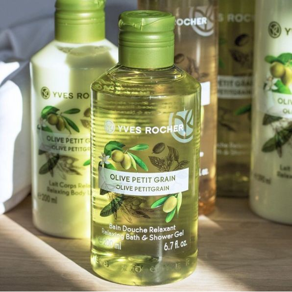 Chính hãng]Gel tắm Yves Rocher Olive Petit Grain Shower Gel 400ml ...