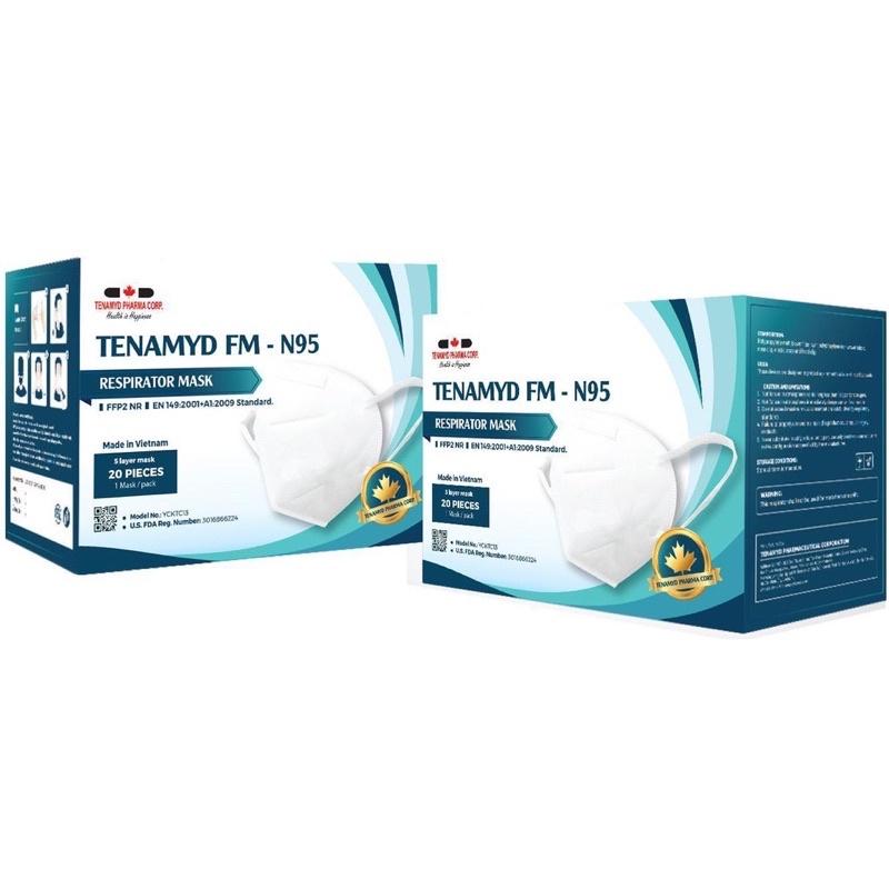 Khẩu trang N95 Tenamyd - Khẩu trang 5 lớp kháng khuẩn - Chứng nhận FDA