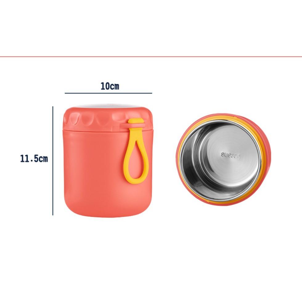 Hộp cốc đựng canh giữ nhiệt, cốc ủ cháo lõi inox nhỏ gọn tiện lợi cho học sinh và dân văn phòng