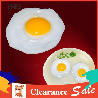 ☞SP Fried Egg Food Simulation Children Play Toy Anti Stress Anxiety Relief Car Decor