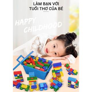 Thùng Lego Miếng Lớn Nhiều Màu Sắc (205 PCS)