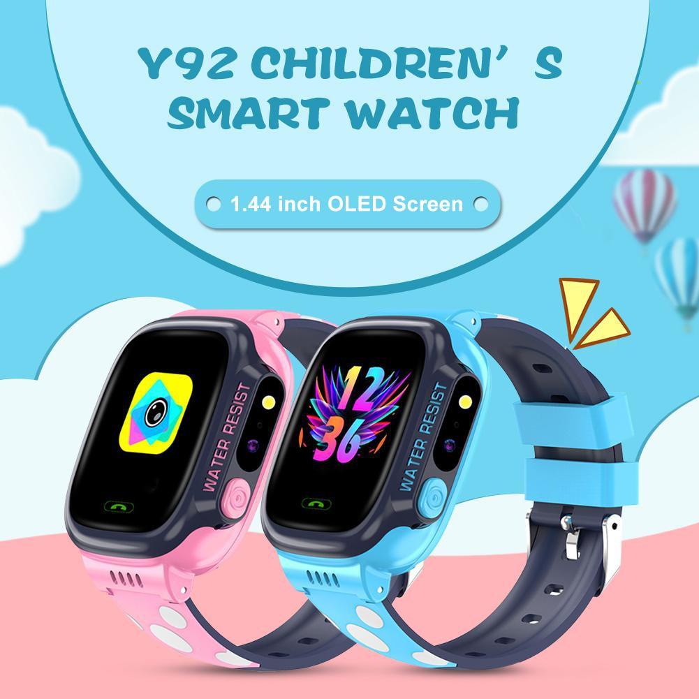 Đồng hồ thông minh trẻ em Y92 chống nước Có Tiếng Việt - Wifi