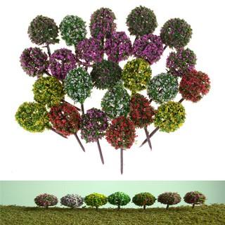 5pcs Miniature Flower Tree Plants Fairy Garden Decoration Dollhouse Craft Model