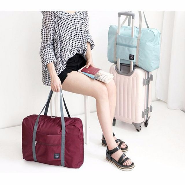 Túi du lịch xếp gọn dùng trên vali kéo