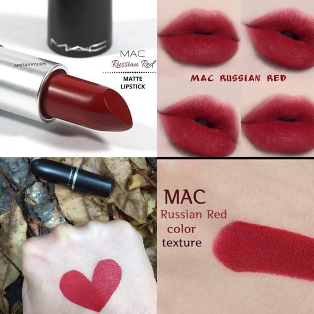 Son Mac Russian Red | Shopee Việt Nam