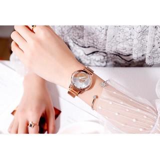 Đồng hồ thời trang nữ SHSHD dây lưới nam châm QT52