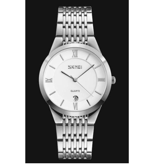 Đồng hồ nam Skmei dây xích màu trắng có lịch chông nước