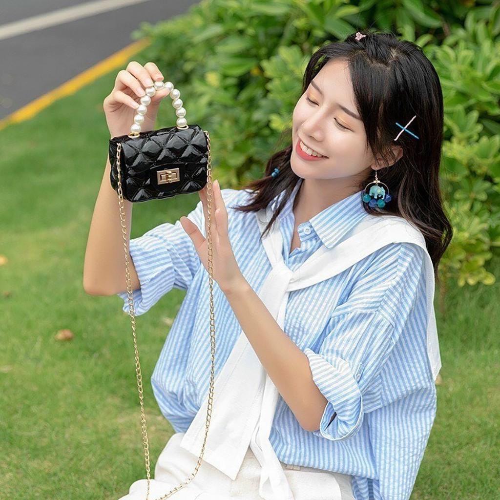 Túi silicon mini đeo chéo nữ đẹp đi chơi cao cấp MN10