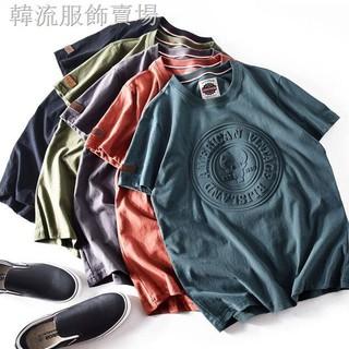 Áo Thun Cotton Tay Ngắn Cổ Tròn In Hình 3d Phong Cách Retro Nhật Bản