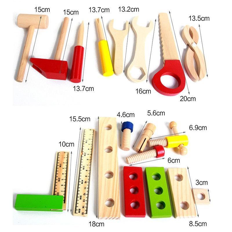 Bộ đồ chơi lắp ghép bằng gỗ dành cho bé