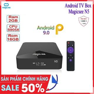 Android Tivi Box Magicsee N5 - Chip S905X - Android 9 - Ram 2GB Rom16GB - Xem Truyền Hình FREE - Bảo Hành 1 năm