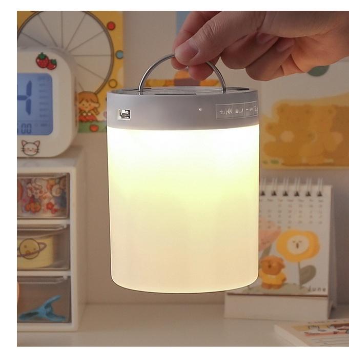 Loa Bluetooth Mini Tích Hợp Đèn Cảm Ứng Và Đồng Hồ Để Bàn Có Thể Thay Đổi Màu