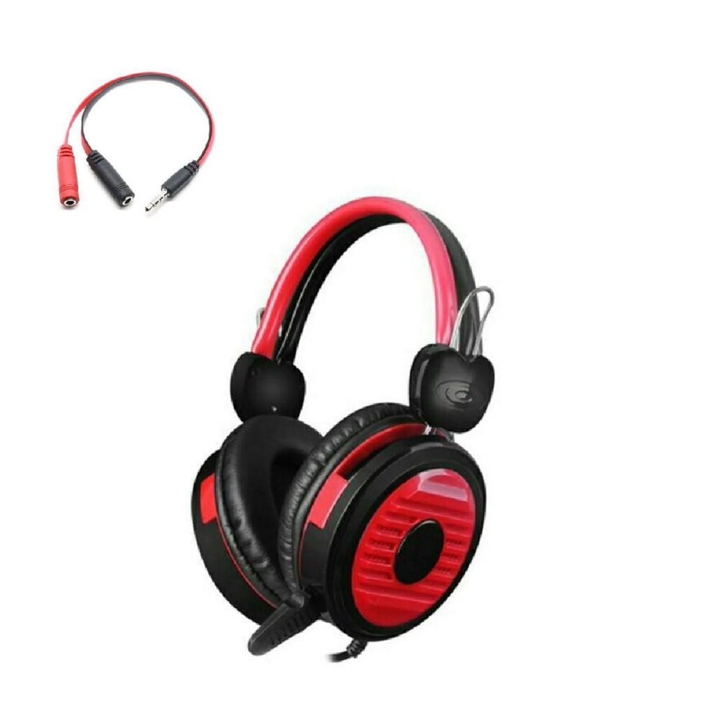 Bộ tai nghe game thủ chụp tai có mic thoại 902 kèm dây chia âm thanh ra tai nghe và mic dùng tốt cho điện thoại và pc