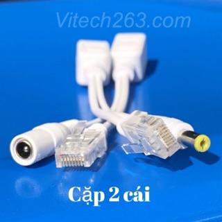 Balun chuyển đổi POE cho Camera IP - Khoảng cách truyền 80M-Jack POE Cấp Nguồn Camera Cặp 2 Cái - Jac Nguồn POE Cho Cam