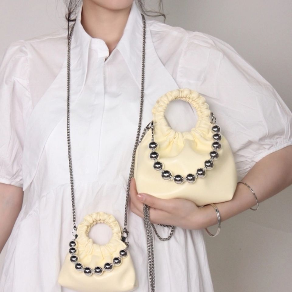 Road Boat Original Cute Mini Pearl Hand a Little Cloud Bag2021New Trendy Chain Sweet Cool Hot Girl Pouch【6Month20Day After】