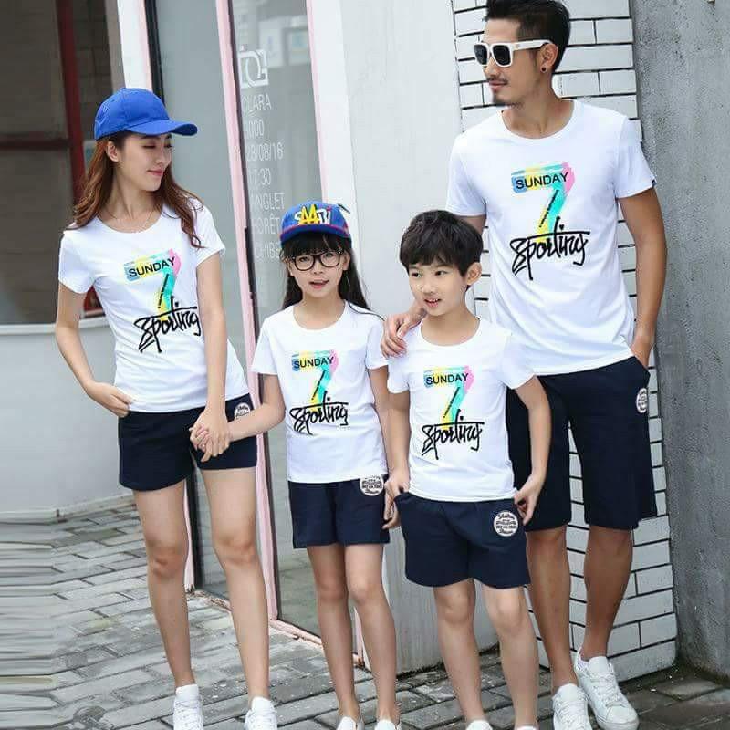 áo thun gia đình hạnh phúc sunday
