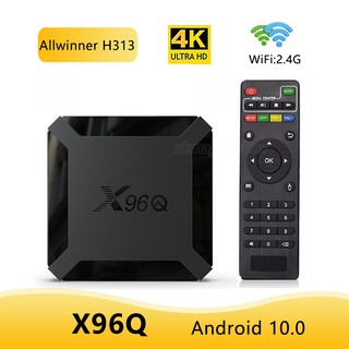 TV BOX Android 10.0 X96Q TV Box Allwinner 2G Ram 16G H313 Quad Core 4K Smart Android TV Box 2.4G Wifi Support Youtube X96Q Set Top Box