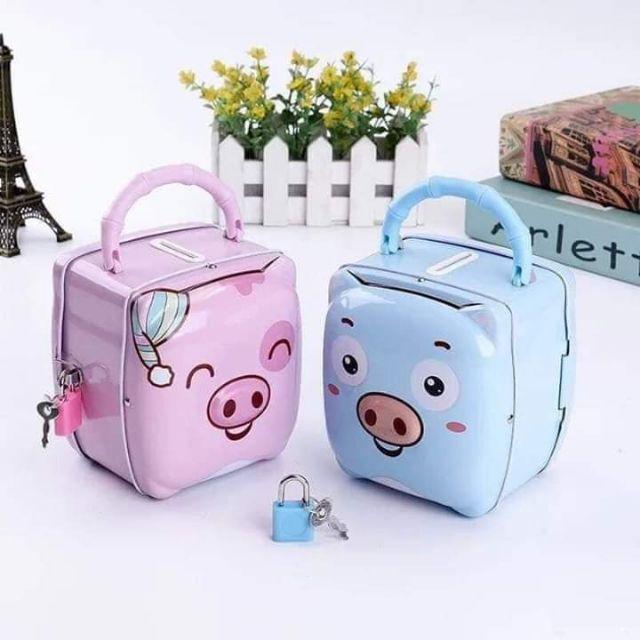 Két sắt mini hình Heo cho bé   Shopee Việt Nam