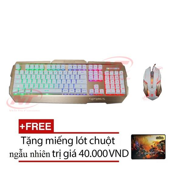 Bộ bàn phím giả cơ và chuột chơi Game Rdrags R300 - R8 1637 (Trắng) + Tặng kèm lót chuột