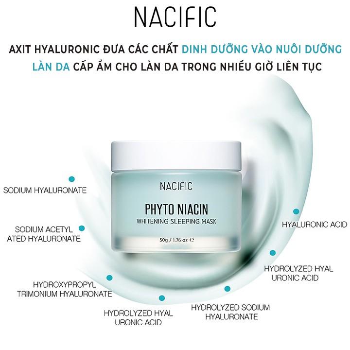 BẢN GIỚI HẠN] Mặt nạ ngủ dưỡng trắng da NACIFIC Phyto Niacin Whitening  Sleeping Mask 50g | Shopee Việt Nam