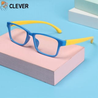 CLEVER Boys Girls Fashion Kids Goggles Anti-blue Rays Silicone Eyewear Anti-blue Light Glasses Vision Care Ultralight Soft Frame Radiation Protection Children Eyeglasses