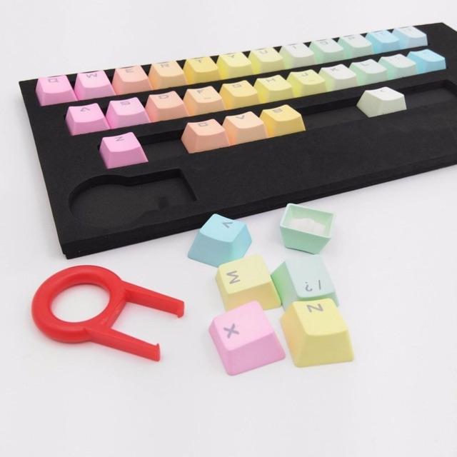 Keycap rainbow 37 pbt - ninja