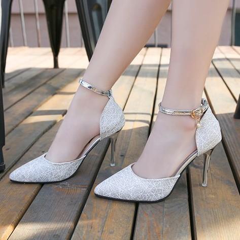 Giày cao gót -  giày phù dâu - giày dự tiệc - giày nữ thời trang- giày cao gót- giày cao gót đế nhọn 5cm