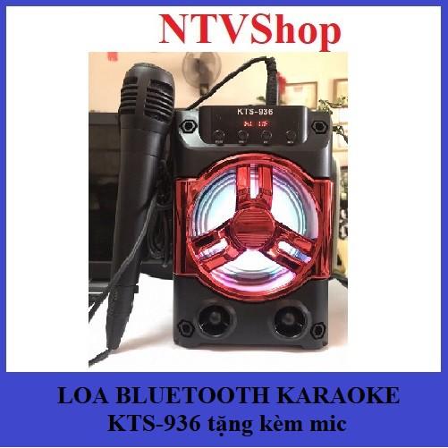 ( Shopee trợ giá ) Loa bluetooth karaoke KTS-936 tặng kèm mic