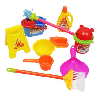 SOME Children Cleaning Toys Simulation Broom Mop Dustpan Barrel