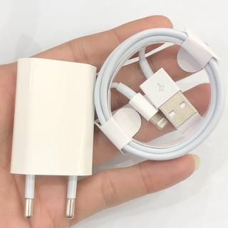 Bộ sạc iphone, củ cáp sạc ip 5 6 7 8 x 11 12 dây dài tiêu chuẩn Apple EU 1m truyền dữ liệu nhanh sạt cho Ipad KLH Shop thumbnail
