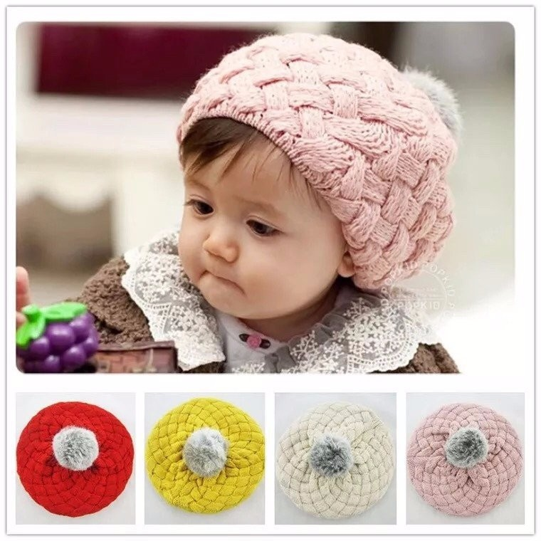 Mũ len cho bé yêu hình lồi xinh xắn