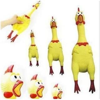 17CM Rubber Chicken Pet Dog Toy Squeak Squeaker Chew