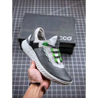 Giày thể thao nguyên bản 2020 ECCO Giày da bò Da thật Giày nam thể thao E Giày thể thao màu xám 39-44 thumbnail