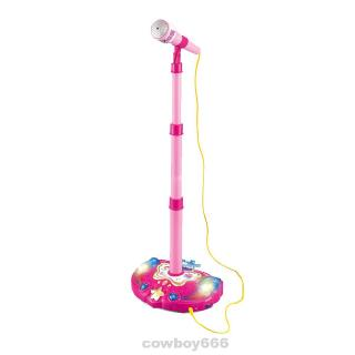 Adjustable Stand Colorful Lights Early Education Electronic Gift Kids Karaoke Toy