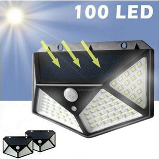Đèn led năng lượng mặt trời 100 bóng LED siêu sáng | Đèn Cảm Ứng Sạc Pin Năng Lượng Mặt Trời