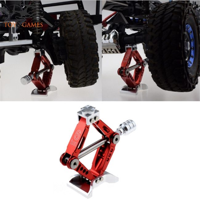 6T 1/10 Simulation Aluminum Alloy Jack Lift for Axial SCX10 D90 RC Crawler Parts