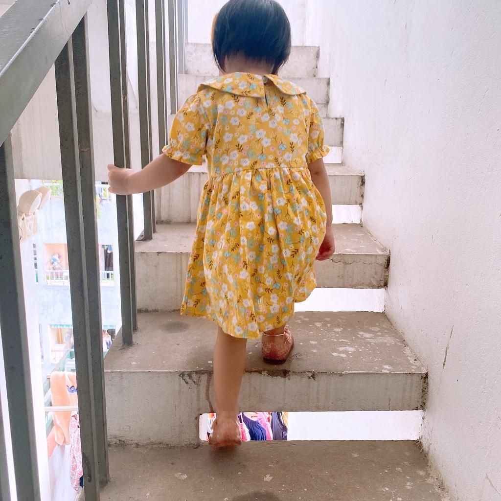 Váy bé gái họa tiết hoa nhí dễ thương từ 1 đến 6 tuổi L'Casta D11