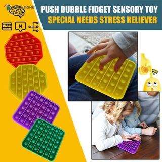 """ready stock"" 1x Push Pop Pop Bubble Sensory Fidget Toy Stress Relief Special Needs Silent Classroom"