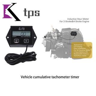 Motorbike Tachometer LCD Display RPM Tach Hour Meter Gauge for