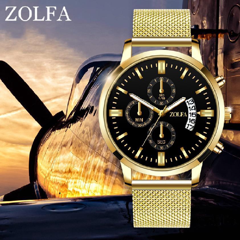 นาฬิกาควอตซ์ผู้ชายกับเวอร์ชั่นเกาหลีของแนวโน้มนาฬิกาปฏิทินดูง่าย 66