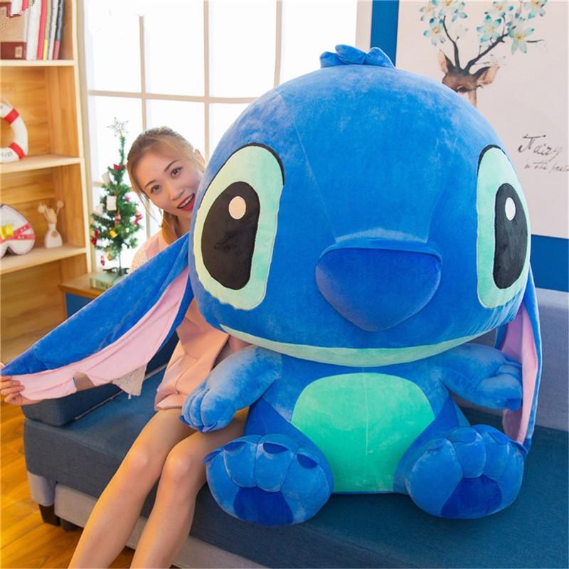 80/50/40cm Disney Dễ thương Lilo Stitch Gấu sang trọng Cô gái Đồ chơi mềm Xmas Quà tặng đồ chơi sang trọng tai dài tai lớn Khâu khâu búp bê