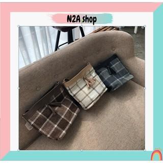 Túi xách nữ THANH LÝ [có sẵn] Túi  tua rua phối vải tweet N2a shop