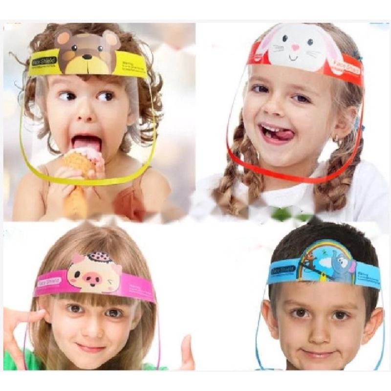 Kính Bảo vệ che mặt chống dịch cho bé . Face shield kid Chống giọt bắn bảo vệ sức khỏe che mắt, mũi, miệng