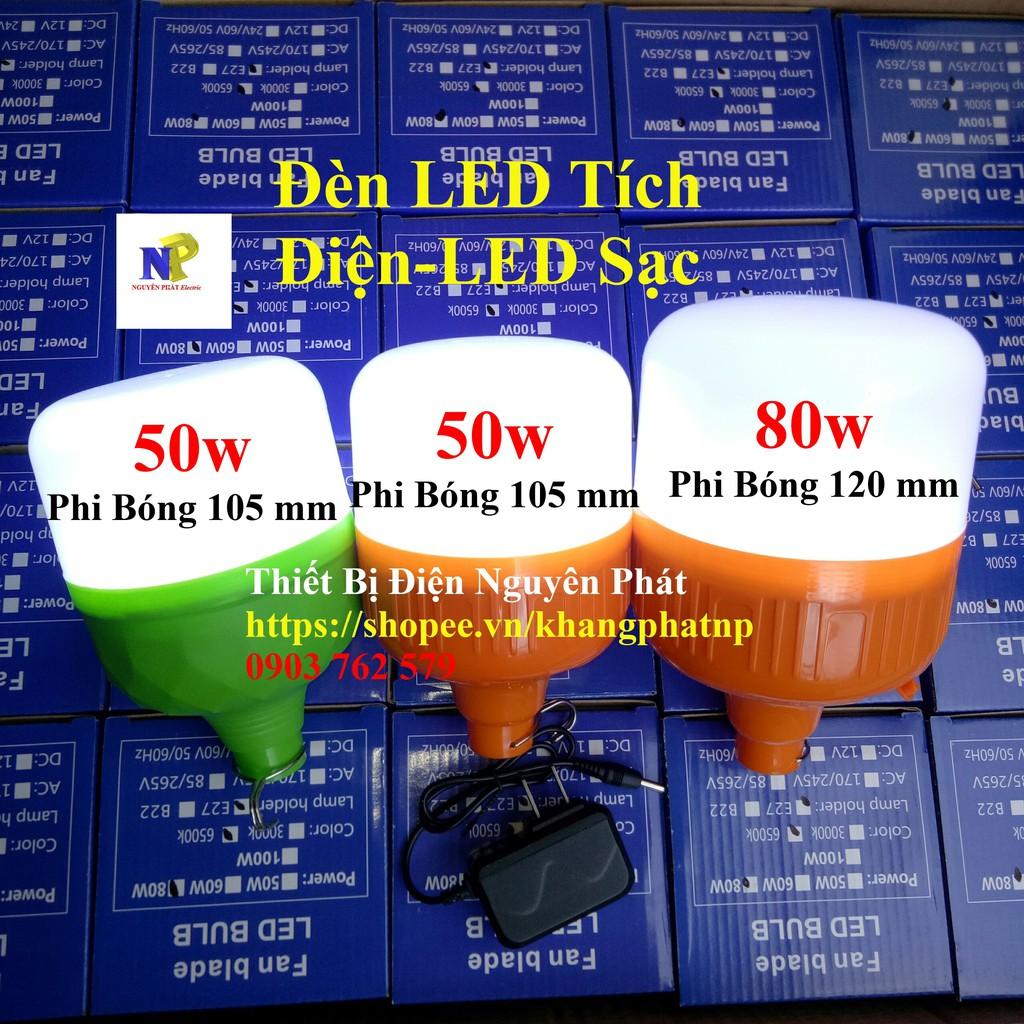 Bóng Đèn LED Tích Điện 50w (Bóng Đèn LED Sạc Tích Điện) - Hàng Chất Lượng