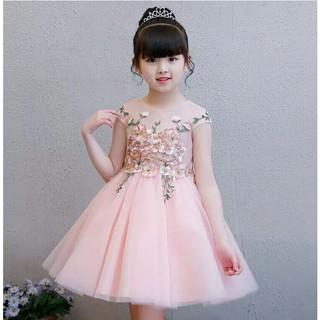 Đầm Bé Gái Ren Thêu 9kg đến 40kg