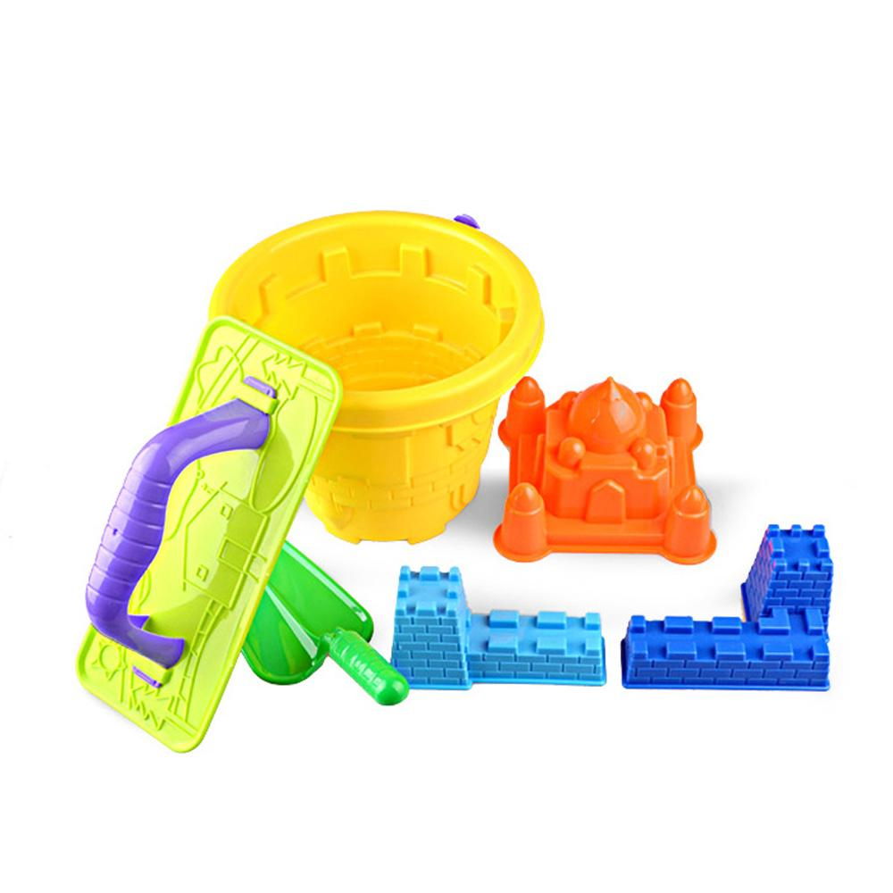 ❤6pcs Sand Castle Mould Kit for Kids Bucket and Spade Beach Holiday Sandpit Toys