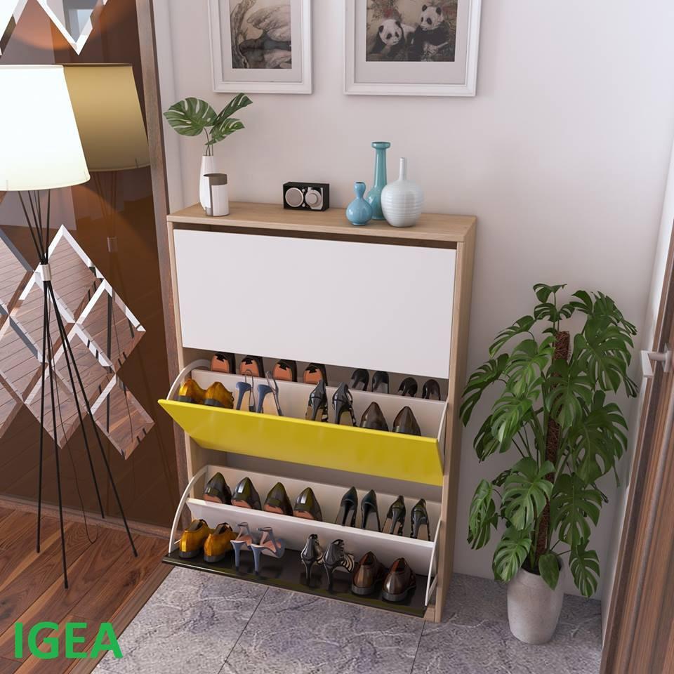 [ SIÊU KHUYẾN MÃI ]Tủ Giày Thông Minh Nhà Xinh 3 màu Khung Gỗ.GP20.5
