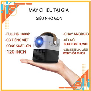 [CHÍNH HÃNG] Máy chiếu mini chạy android WEJOY Y7 💕 như smart TV di động 💕 tích hợp Bluetooth – Wifi – Loa stereo